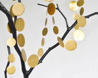 paper garland circles in GOLD made of paper circle by renna deluxe