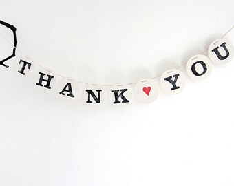 THank YOU banner // Wedding garland, thank you sign, bunting, photo props, thank you cards, wedding decoration renna deluxe renna deluxe