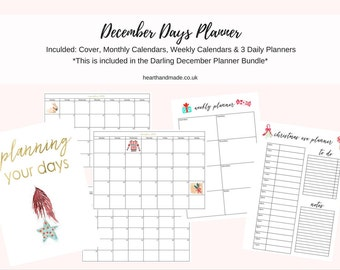 a4 christmas day planner printable monthly weekly daily etsy