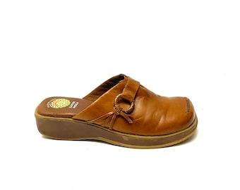 Women Size 9 Vintage Earth Shoes 90s Black Ankle Boots