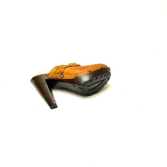 Vintage 1990s Sbicca Platform Clogs // Tan Marble… - image 8