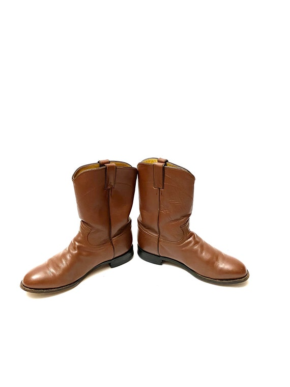 Vintage 1980s Justin Boots // Mens Chocolate Brow… - image 5