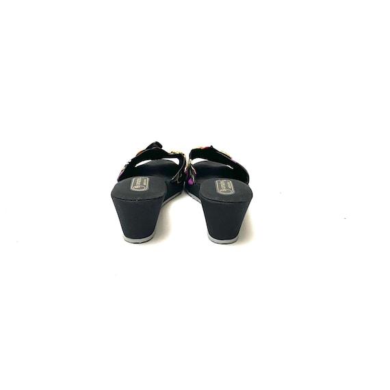 Vintage 1970s Novelty Print Sandals // Tulip Fabr… - image 8