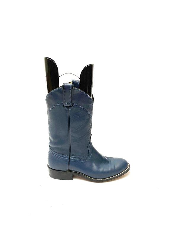 Vintage 1970s Wrangler Boots // Blue Leather Weste