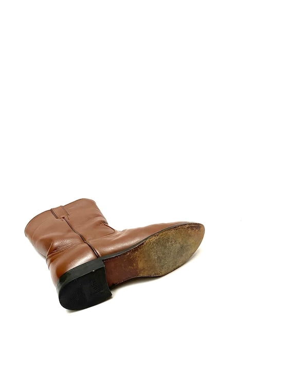 Vintage 1980s Justin Boots // Mens Chocolate Brow… - image 8