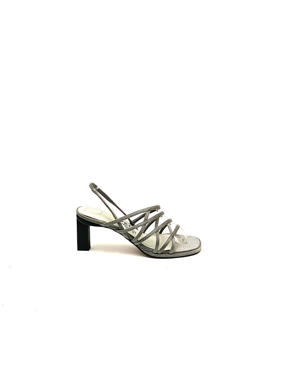 Size 7 Vintage Slingback SandalsGenuine Leather1990sHigh Heels Vittorio