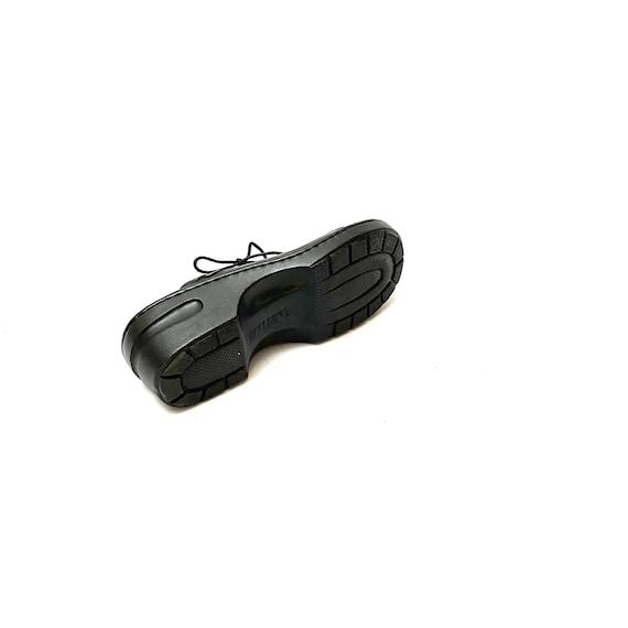 Vintage 1990s Slip On Mules // Black Leather Lace… - image 7