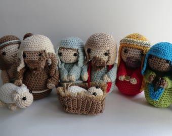Crochet Christmas nativity amigurumi PDF pattern