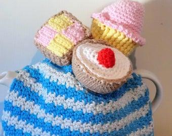 Picnic - Afternoon tea tea cosy PDF amigurumi style crochet pattern . Instant download
