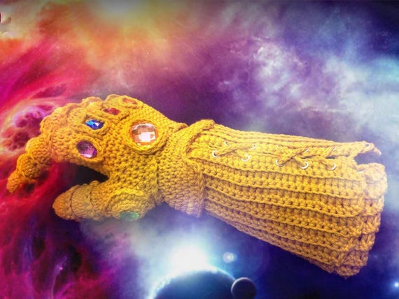infinity gauntlet pdf crochet pattern instant download etsy