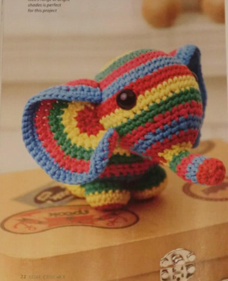 Amigurumi stripy elephant pdf crochet pattern image 0