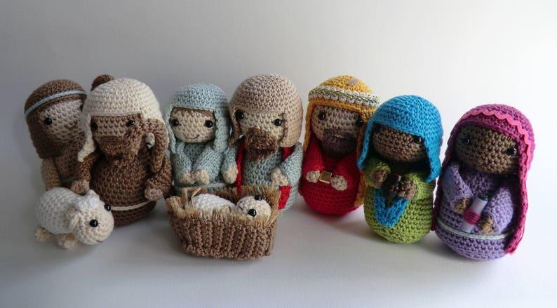 Crochet Christmas nativity amigurumi PDF pattern image 1