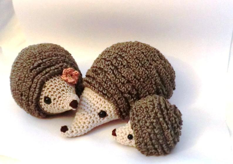 Hedgehog family amigurumi PDF crochet pattern image 0