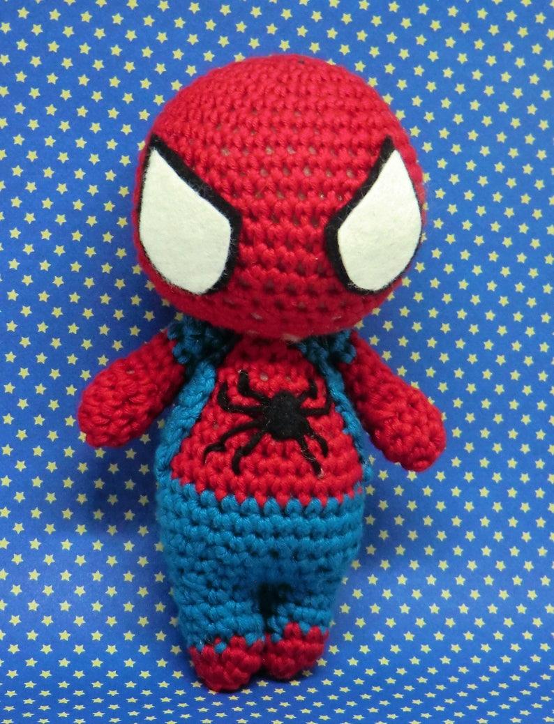 Spider-Man amigurumi style PDF crochet pattern inspired by image 0