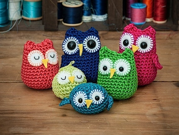 Rainbow Owls Amigurumi Pdf Crochet Patterns Etsy
