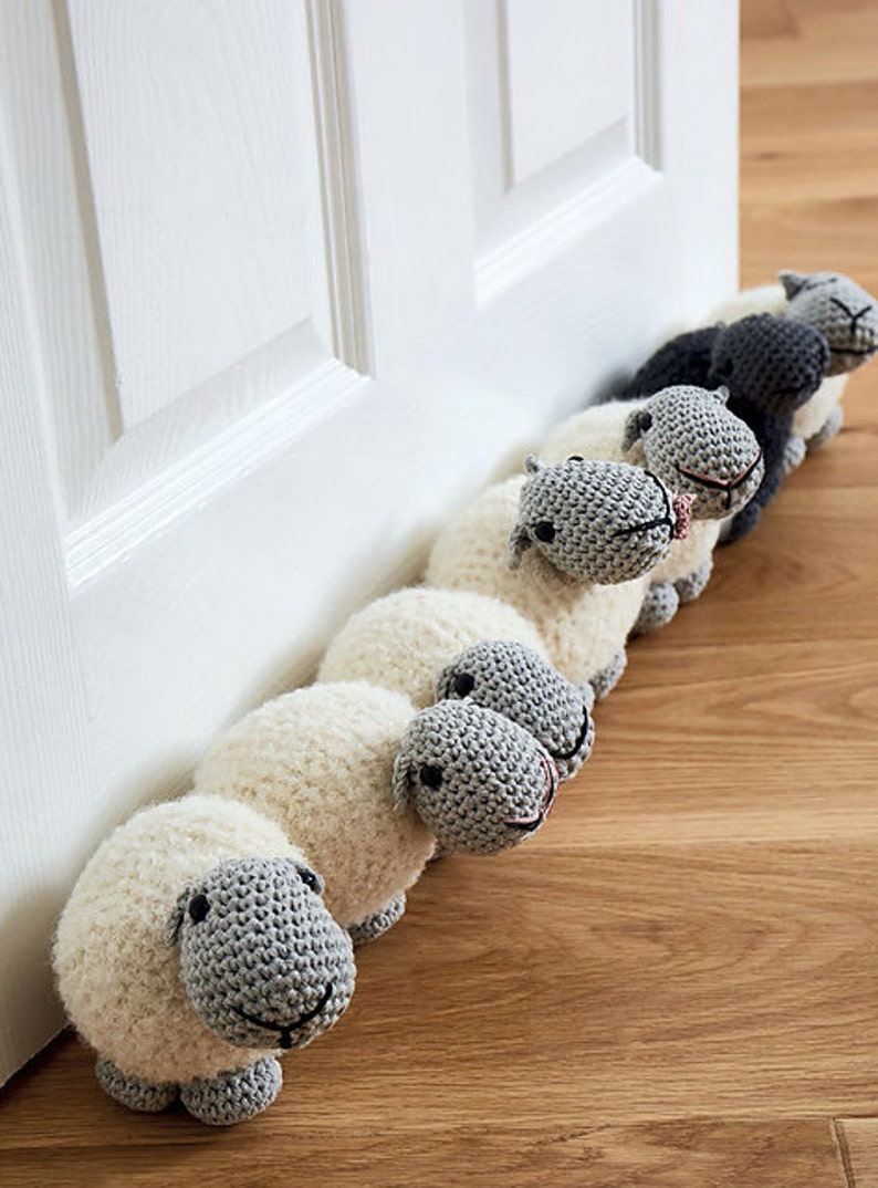 Sheep draught excluder/doorstop amigurumi crochet pdf pattern image 0