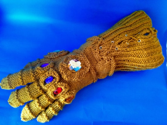 Infinity Gauntlet Knitting pattern Instant download PDF Thanos cosplay