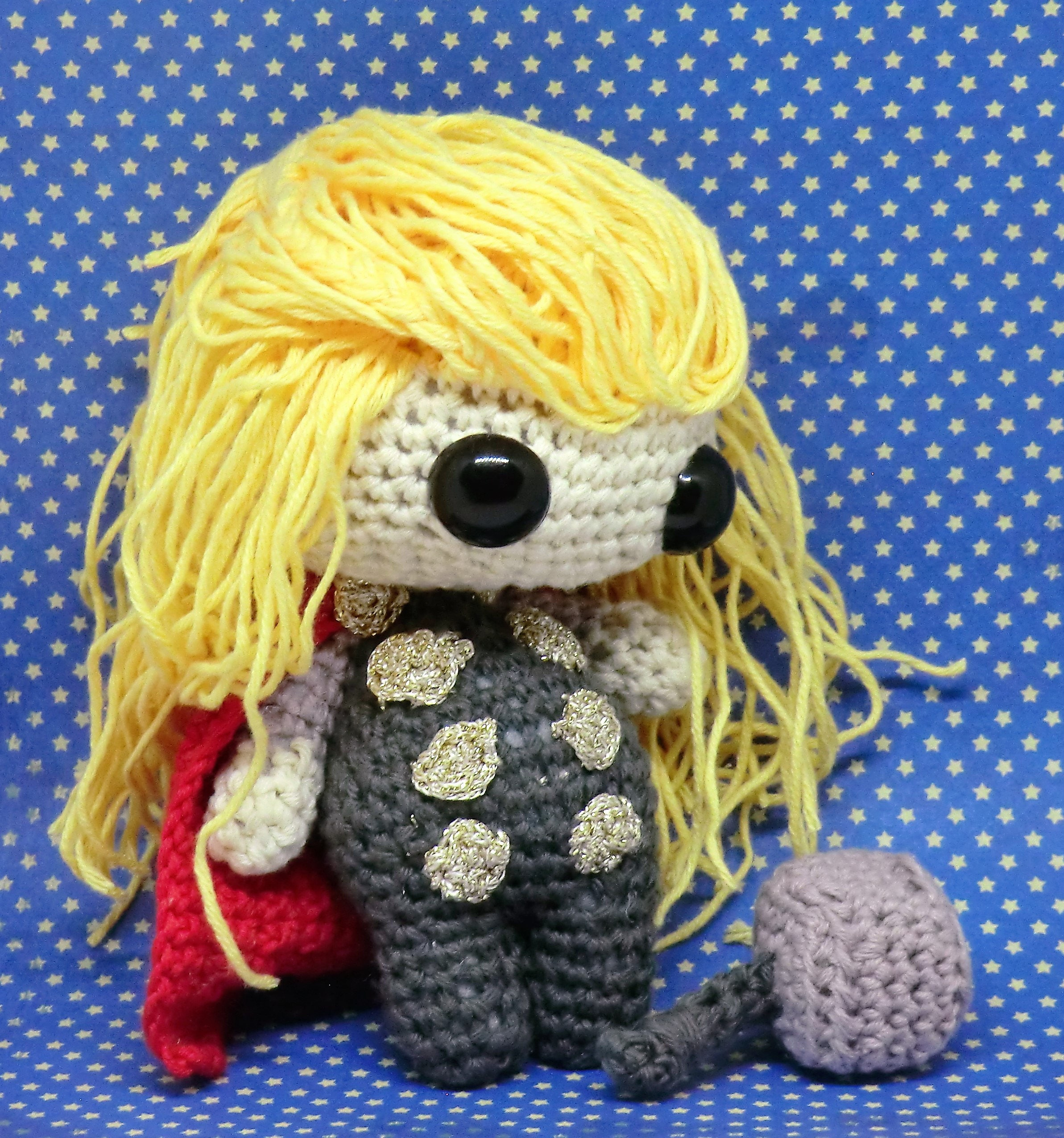Thor Amigurumi Style Pdf Crochet Pattern Inspired By The Etsy