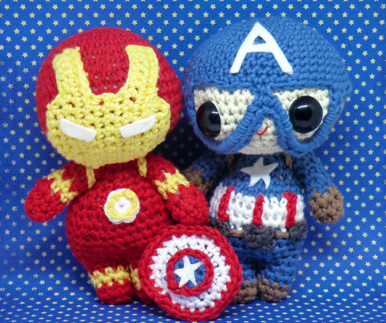 Iron Man And Captain America Civil War Amigurumi Style Pdf Etsy