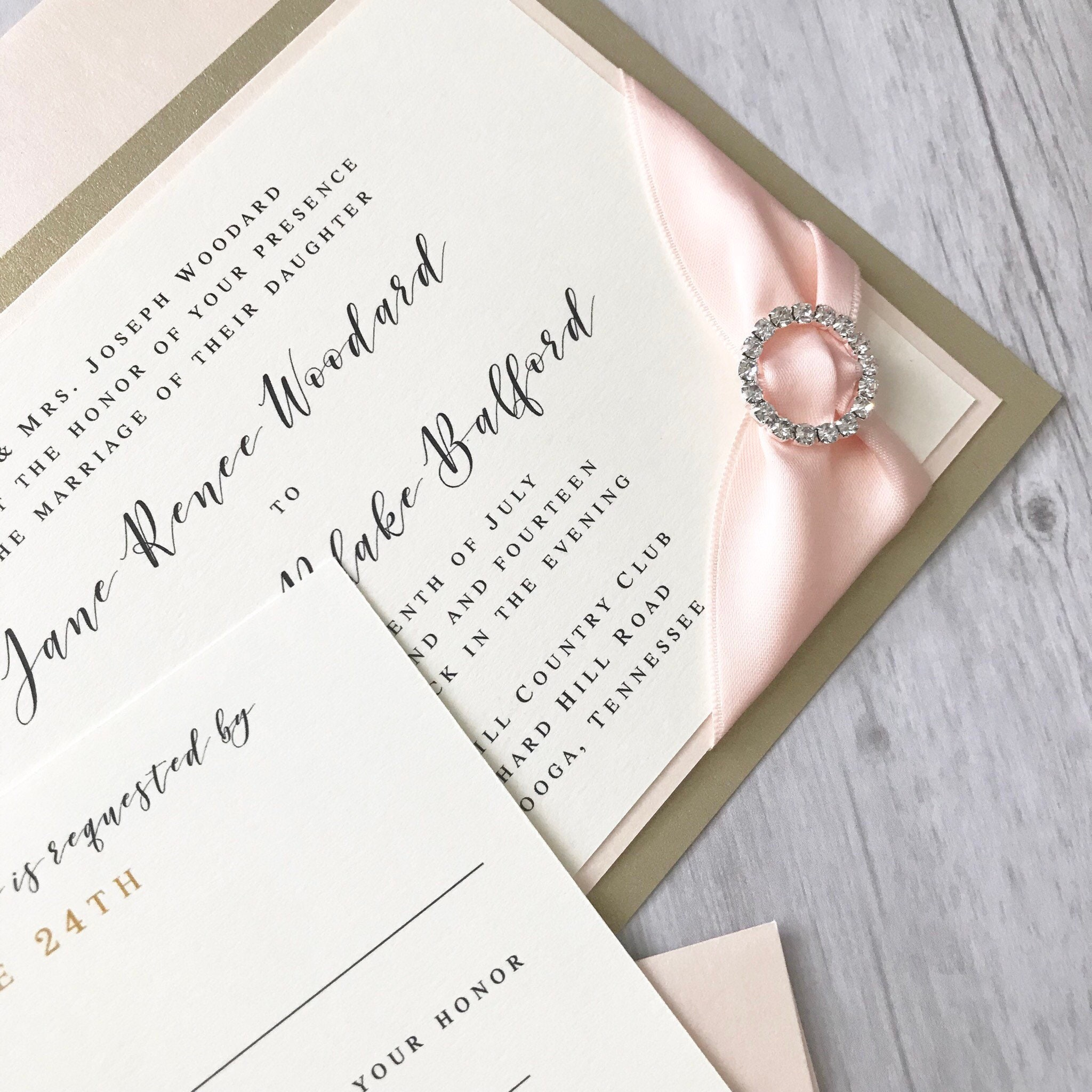 When Should Wedding Invitations Be Ordered: Rhinestone Wedding Invitations Elegant Wedding Invitations