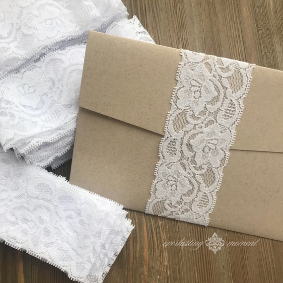 lace belly band diy belly bands 5x7 invitation belly bands etsy
