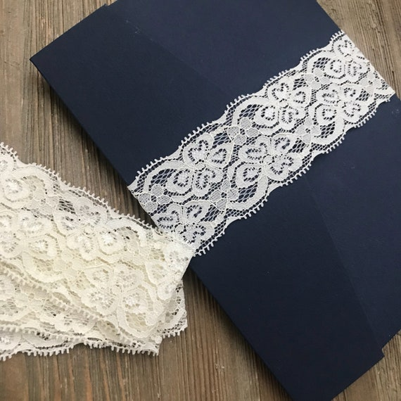 ivory lace belly band diy belly bands 5x7 invitation belly etsy