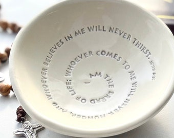 Ready to Ship First Communion Gift Boy,  Bread of Life Bowl, Gift for First Communion Girl