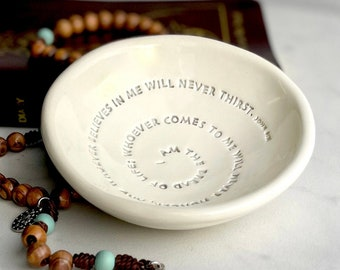 First Communion Gift Boy,  Bread of Life Bowl, Gift for First Communion Girl