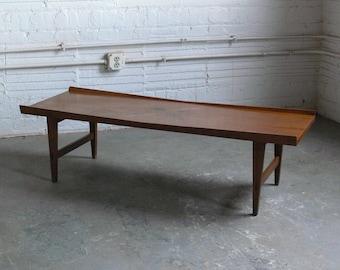 Mid Century Modern Lane Acclaim Lane Coffee Table w/ Inlaid Rosewood Leaves