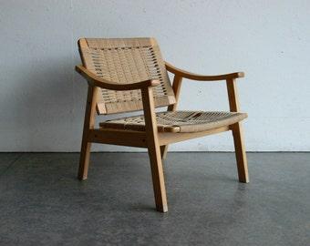 SALE Vintage Danish Style Mid Century Modern Lounge Chair