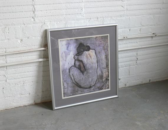 La Credenza Di Picasso : Blue nude by pablo picasso framed print etsy