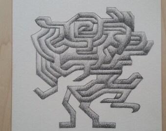 Original graphite drawing