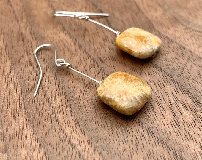 Fossil Stone Earrings