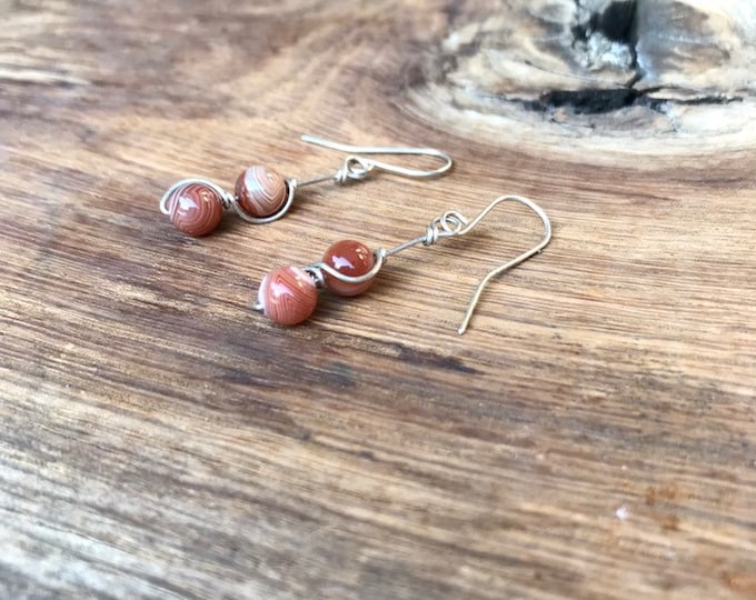 Lake Superior Agate Earrings