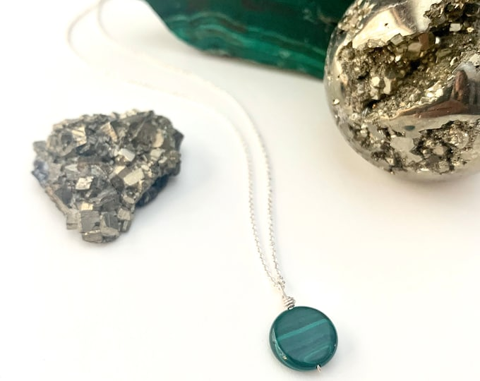 Petite Malachite Pendant Necklace