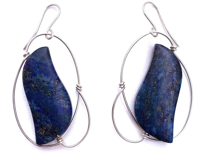 Lapis Lazuli Soaring Earrings