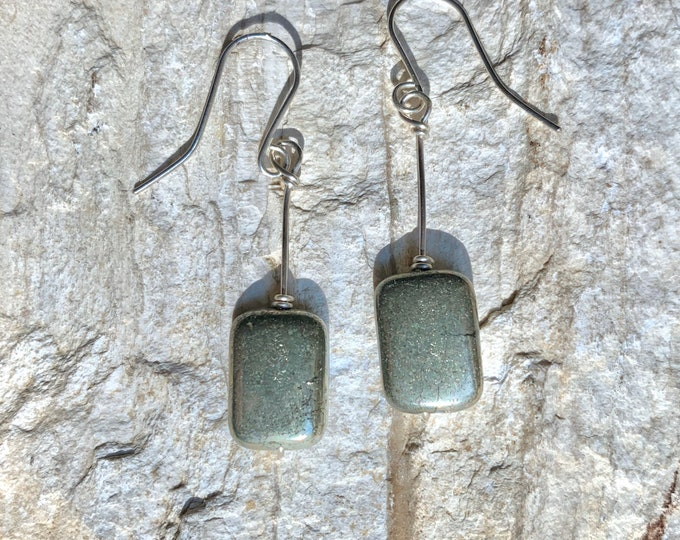 Pyrite Pillow Earrings