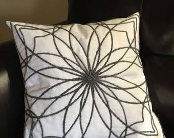 Star Burst - Quilted Couched Pillow Cover