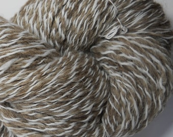 Handspun yarn Blue Faced Liecaster and Faux Cashmere yarn 342 yards 4 ounces