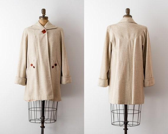 1940 vintage swing coat. 40's wool coat. short. Ar