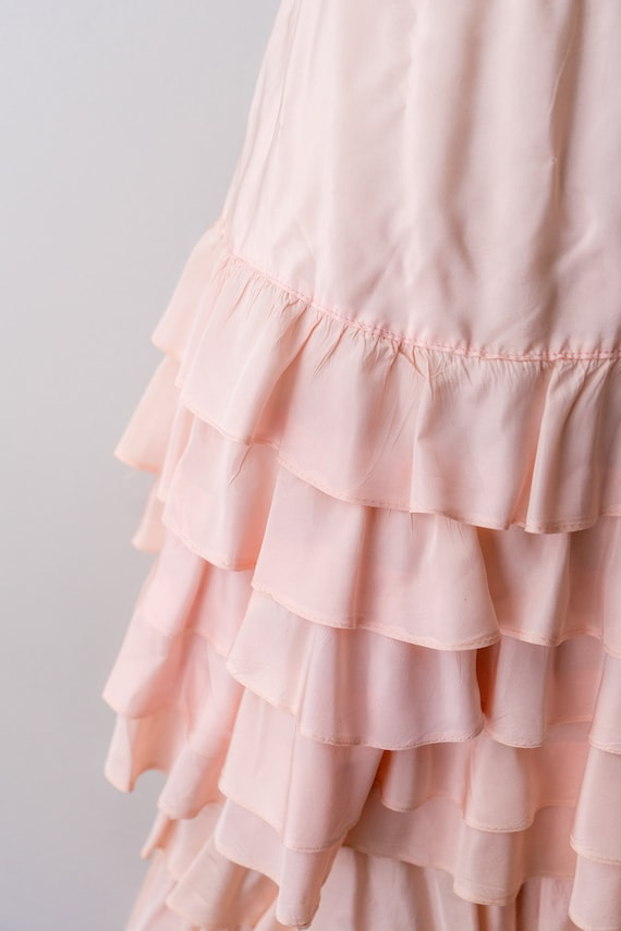 1930 light pink dress. small. 30's bias cut gown.… - image 6