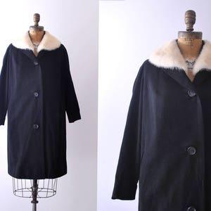 1970 leather coat 70/'s vintage fur coat m white patchwork mink collar diamond. medium brown gray