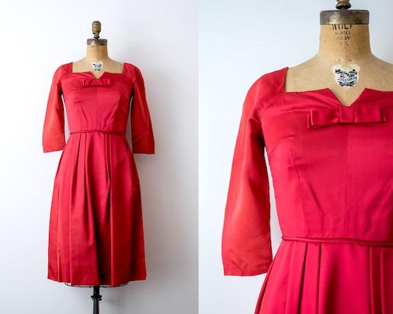 60s satin dress