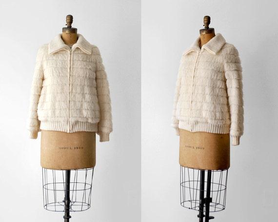 70's wool jacket. 1970 zipper coat. m. fuzzy wool.