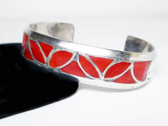 Make an Offer - Sterling Silver Cuff Bracelet Inla