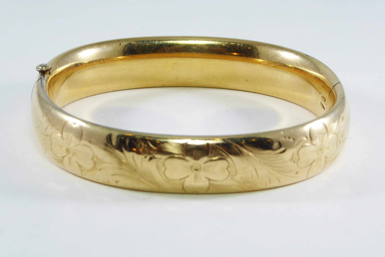 81a277c4b46 Victorian Gold Filled Bangle Bracelet Signed Winard 1/20 12K GF ...