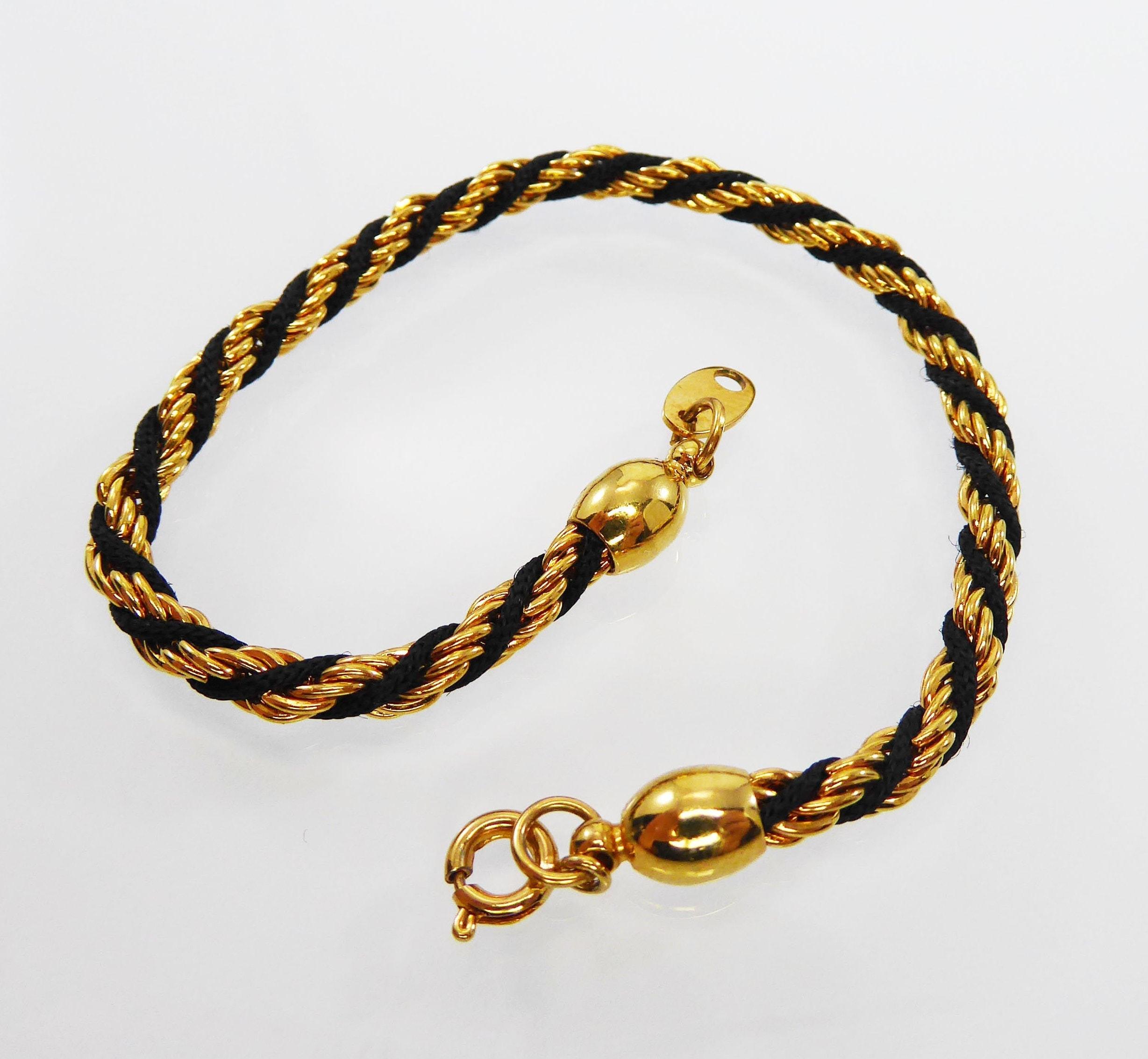 7167ce5f0cdbe Trifari Striped Rope Bracelet Signed Trifari Twisted Gold Tone and ...