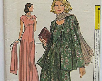 Vintage 70 s Misses  Easy Half Size Dress in 2 Lengths and Jacket 7289a9928