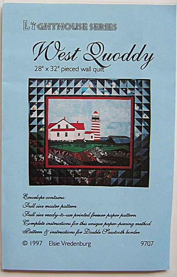 Lighthouse Series West Quoddy 28x 32 Pieced Wall Etsy
