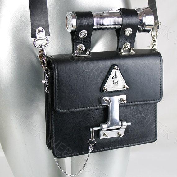 33f634c56fce Vintage black leather crossbody bag shoulder evening handbag